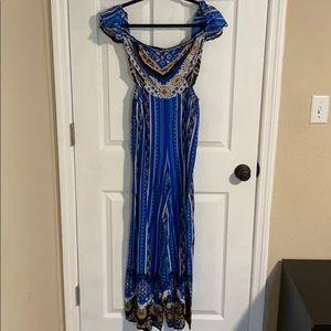 Royal blue pattern jumpsuit